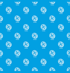 tomato pattern seamless blue vector image
