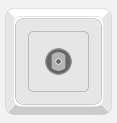 tv socket vector image