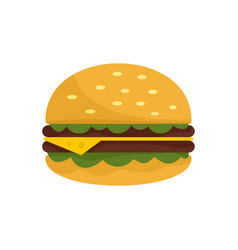 unhealthy burger icon flat style vector image