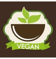 Vegan icon design vector