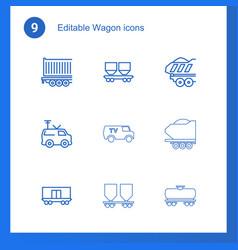 wagon icons vector image