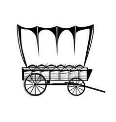 Wild west wagon western vector