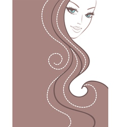 woman hair back vector image vector image