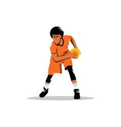 Basketball sign vector image vector image