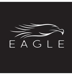 Bird eagle abstract design template vector image