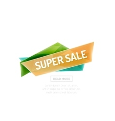 colorful sale banner vector image