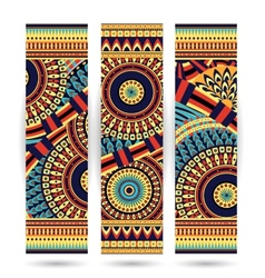 ethnic pattern cards vector image vector image