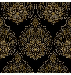 Gold Lotus Seamless Pattern vector image vector image