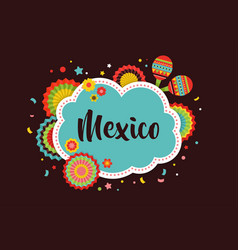 Mexican fiesta background banner vector