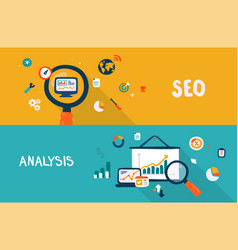 seo and analysis vector image vector image
