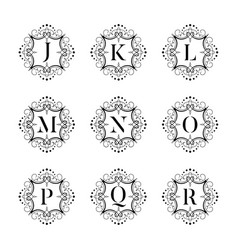 set luxury alphabet on the white background vector image vector image