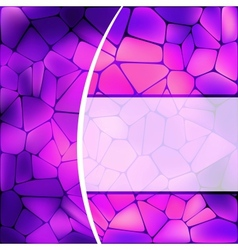 Stained glass design vector image vector image