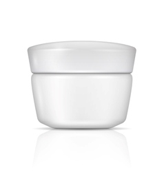 White body cream can with lid vector image