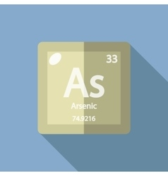 Chemical element Arsenic Flat vector image vector image