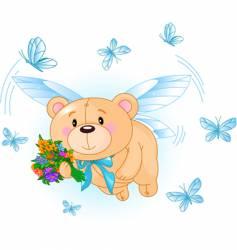 cartoon teddy bear vector image vector image