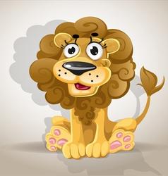 Cute cartoon character lion vector image vector image