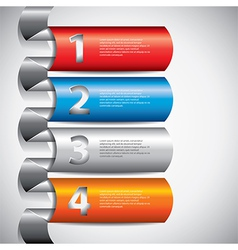 infographics rounded columns vector image