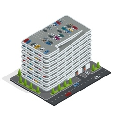 Multi-story car park Isometric city car park vector image vector image