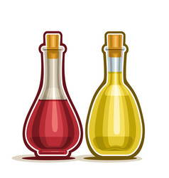 Red and white wine vinegar vector