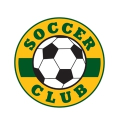 Soccer club sign vector image