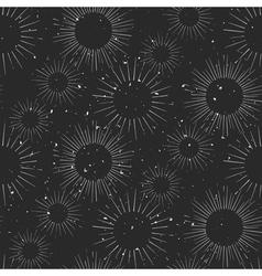Vintage hand drawn chalk beams seamless pattern vector image vector image