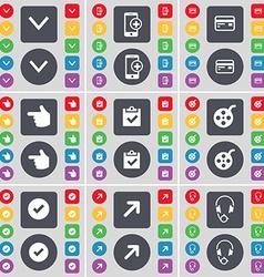 Arrow down Smartphone Credit card Hand Survey vector image vector image