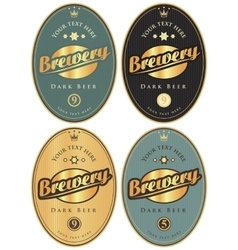 labels for beer and brewery vector image vector image