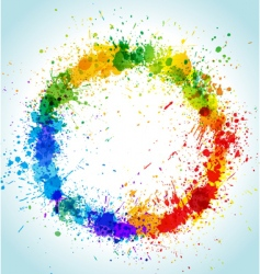 paint splashes vector image