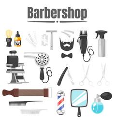 set of barbershop tools vector image
