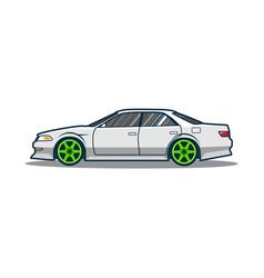 tuning japan car vector image vector image