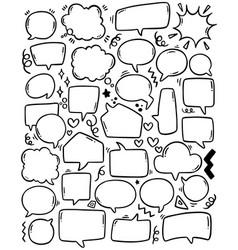 0091 hand drawn background set cute speech vector