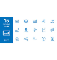 15 data icons vector