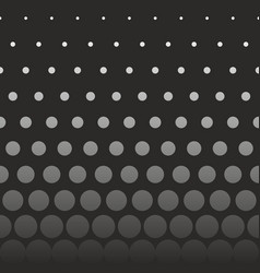 Abstract seamless pattern with grey dots on black vector