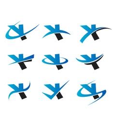 Alphabet y logo icons vector
