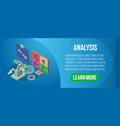 Analysis concept banner isometric style vector