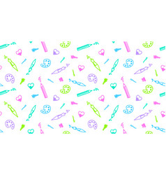 art seamless pattern vector image