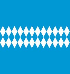 Bavarian flag seamless pattern for oktoberfest vector