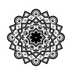 Beautiful Deco Black Mandala Patterned vector image vector image