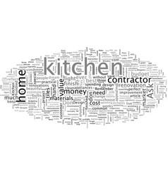 Biggest kitchen design mistakes vector