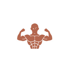body gym training muscles logo vector image