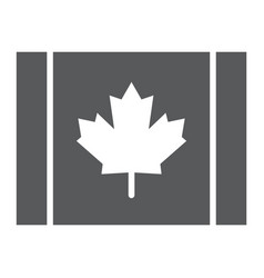 canadian flag glyph icon canada and maple vector image
