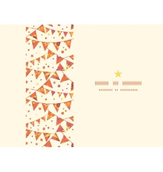 Christmas Textured Decorations Flags Horizontal vector image