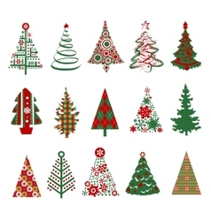 Christmas trees silhouettes vector image