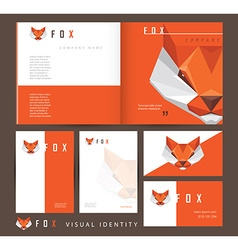 Corporate stationary Branding Templates vector image