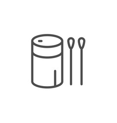 Cotton sticks line icon vector