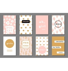 Creative girlie cards vector image