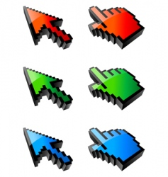 cursors vector image