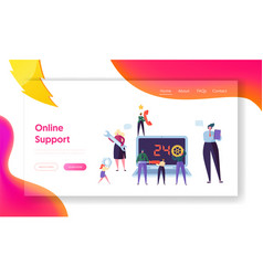Customer helpdesk service online support web page vector