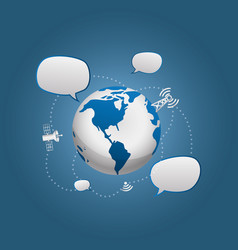 Digital communication technology vector