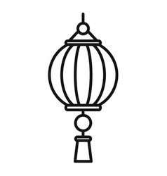dragon chinese lantern icon outline style vector image